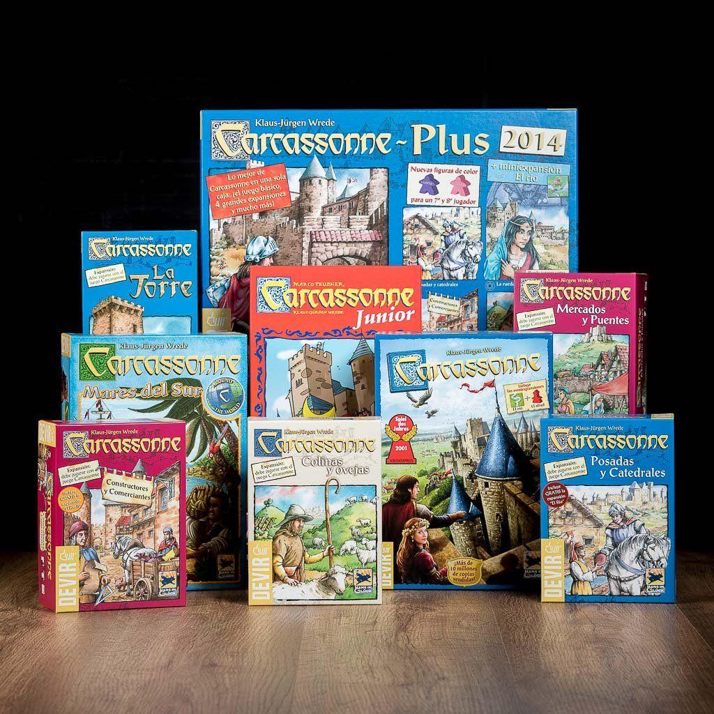 Carcassonne juego y expansiones