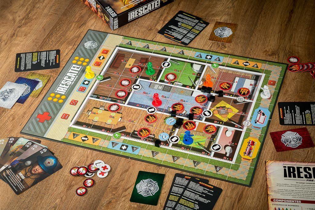 Rescate juego de mesa cooperativo apagando fuegos for Flashpoint juego de mesa