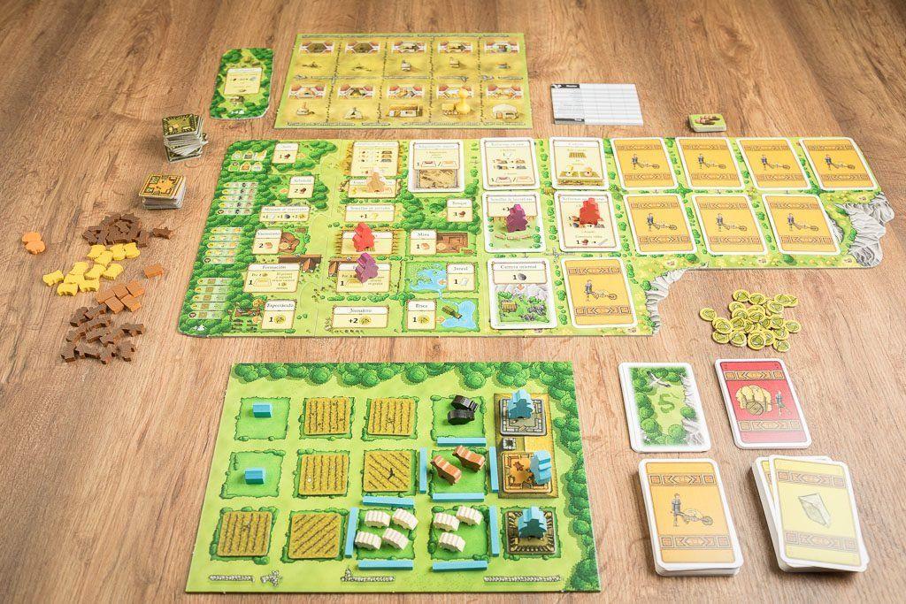 """Agrícola, juego de mesa dentro de la categoría de """"mueveculos"""""""