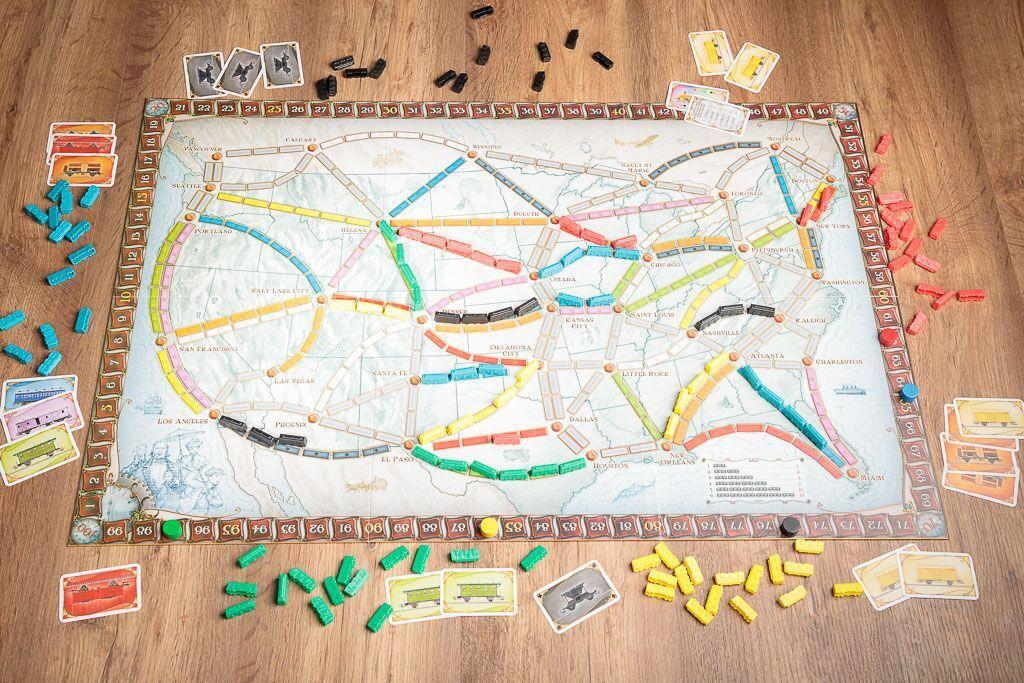 Aventureros al tren, duración de los juegos de mesa de trenes
