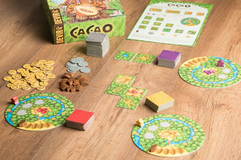 Cacao es uno de los juegos de mesa de granjeros