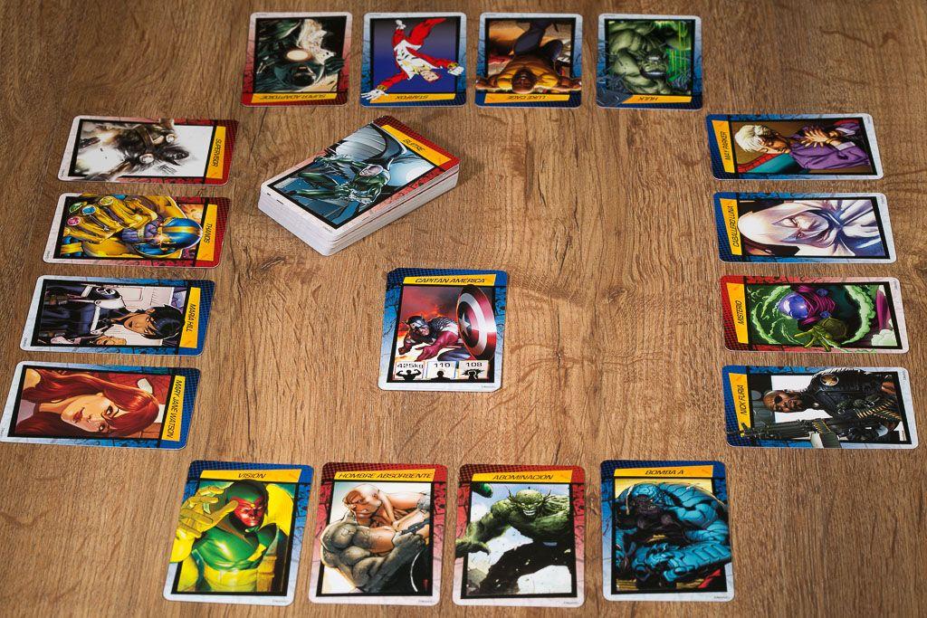 Cardline Marvel, juegos de mesa para regalar a un niño pequeño