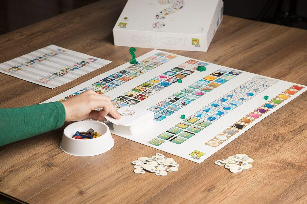 Concept, aprendizaje a través de los juegos de mesa por niveles de dificultad