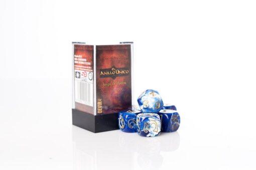 El anillo único Juego de dados azul