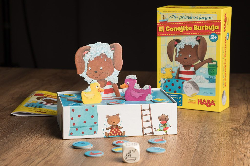 El conejito burbuja es uno de los juegos de mesa refrescantes