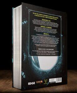 Parte trasera del libro de campaña Mentiras Eternas
