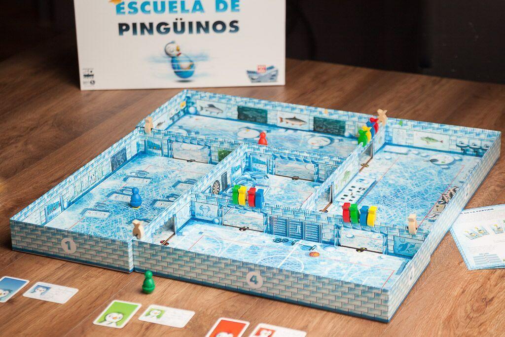 Escuela de pingüinos, otro de los juegos de mesa de destreza