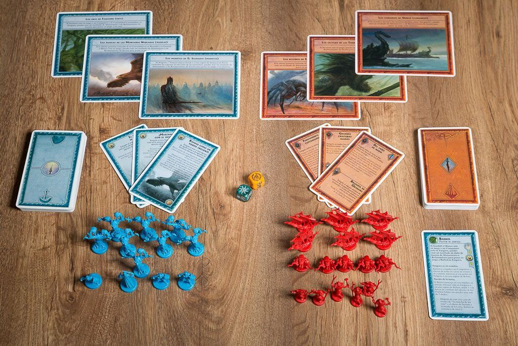 Guerra del anillo guerreros de la tierra media, uno de nuestros juegos de mesa para los amantes del cine
