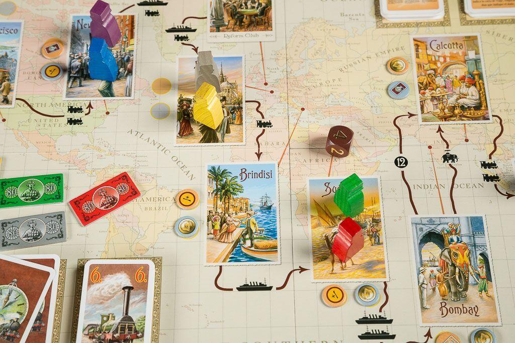 La vuelta al mundo en 80 dias, uno de nuestros juegos de mesa sobre viajes