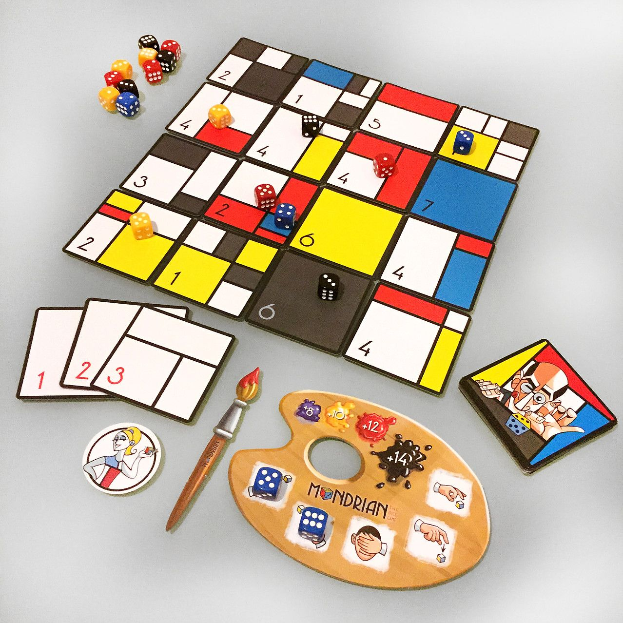 Mondrian the dice game juegos de cartas