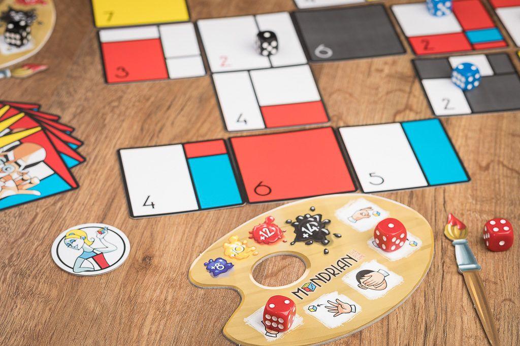 Mondrian es uno de los juegos de mesa de azar