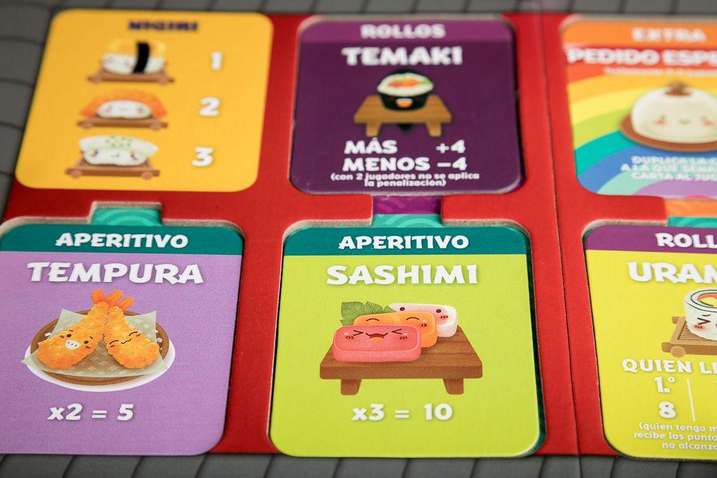 Sushi Go!, juegos de mesa infantiles y familiares por menos de 10 euros