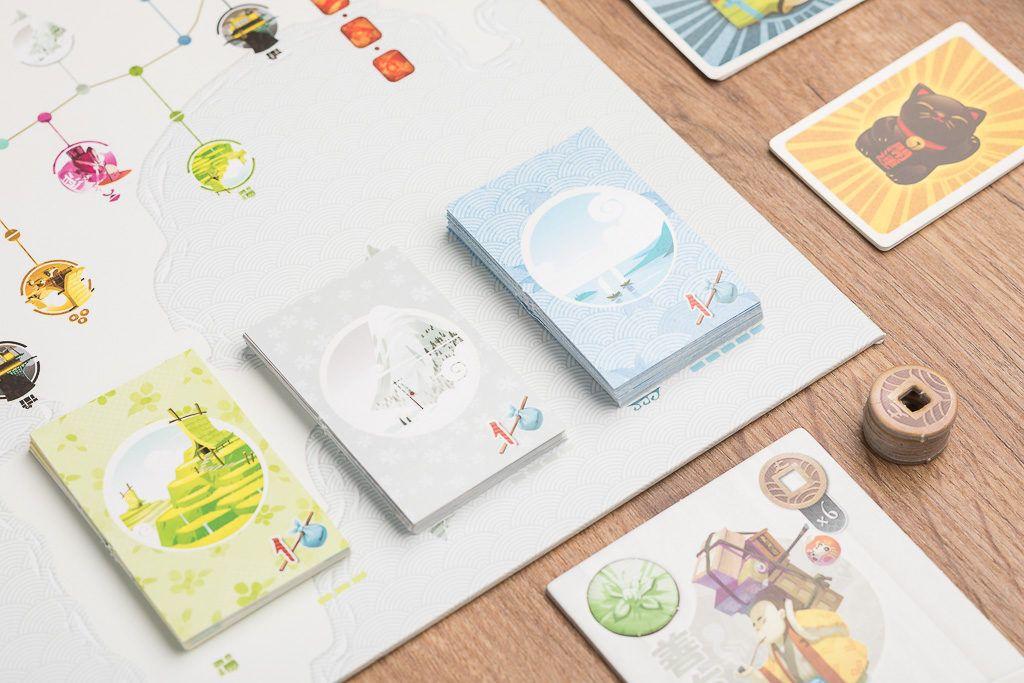 Tokaido es uno de los juegos de mesa ilustrados