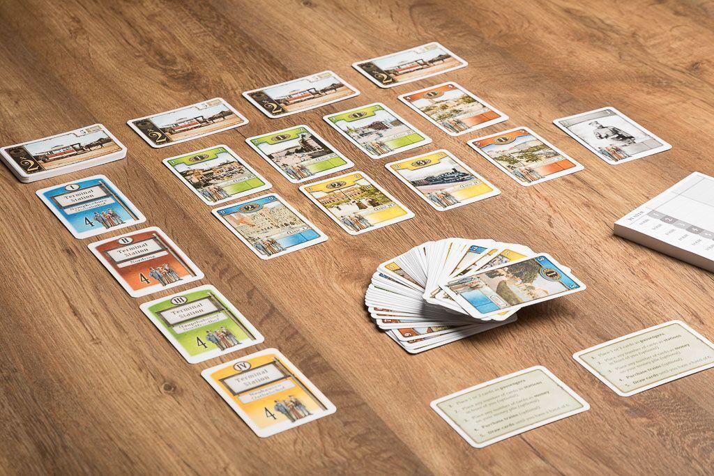 Tranvia, juegos de mesa de cartas sobre trenes