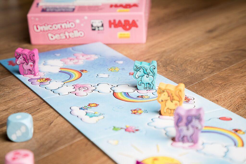 Unicornio destello, enseñar a tus hijos a jugar a juegos de mesa