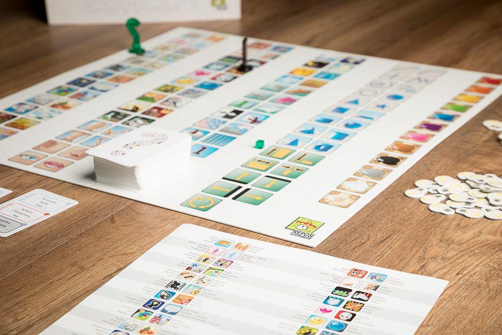 Concept, juegos de mesa para adivinos