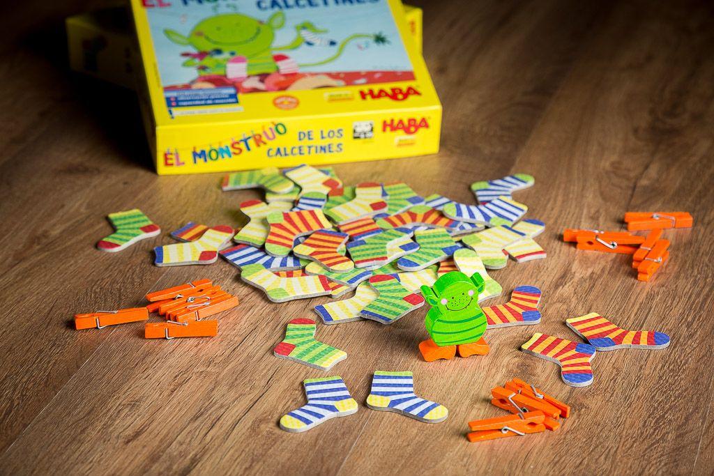El monstruo de los calcetines, juguetes educativos