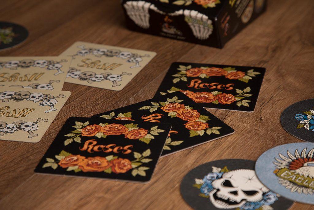Skull and roses, juegos de mesa para meriendas con amigas