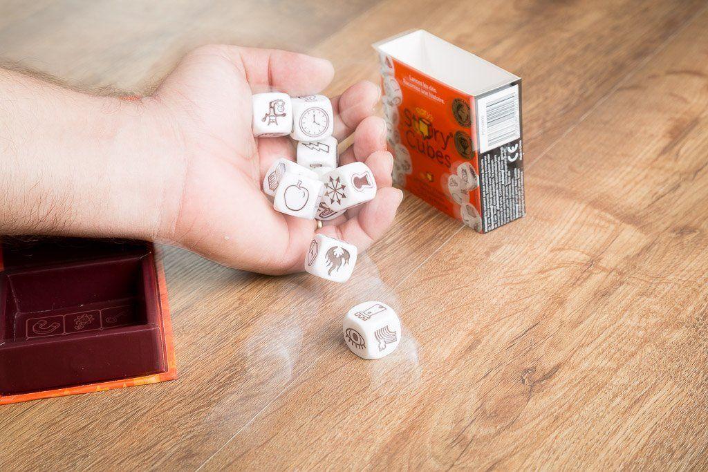 Strory cubes, juegos de mesa para la sala de espera