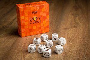 Story cubes MAX, juegos de mesa para cenas sin hijos
