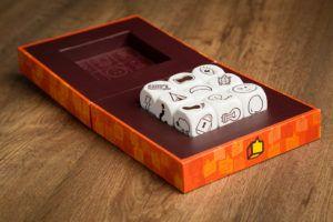 Story cubes Max, juegos de mesa para familias numerosas